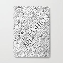 Fashion keywords Metal Print