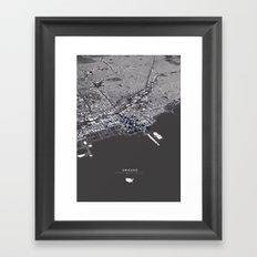 Chicago City Map I Framed Art Print