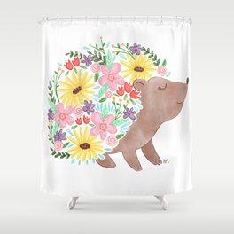 Flowering Hedgehog Shower Curtain