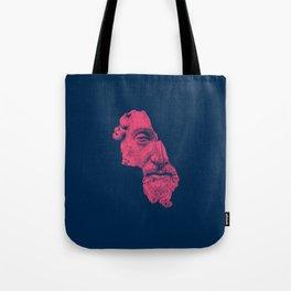 MARCUS AURELIUS ANTONINUS AUGUSTUS / prussian blue / vivid red Tote Bag