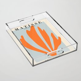 Henri matisse the cut outs blue and orange contemporary, modern minimal art Acrylic Tray