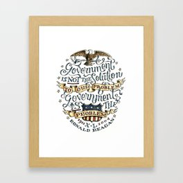 small government, larger freedom Framed Art Print