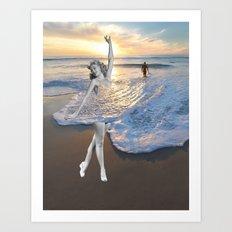 Like a wave Art Print