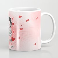 klaine Mugs featuring The Power of Love by Sunshunes