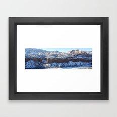 Snowy Canyon Framed Art Print