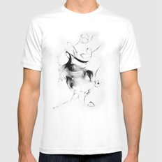 Line 5 MEDIUM Mens Fitted Tee White