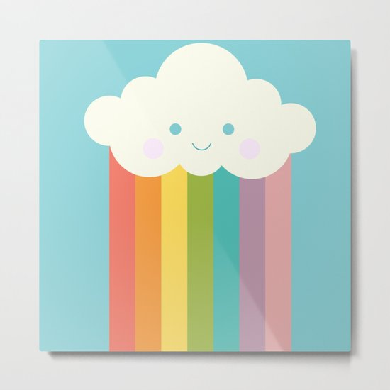Proud rainbow cloud Metal Print