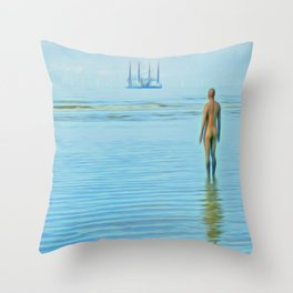 Time Passing Throw Pillow