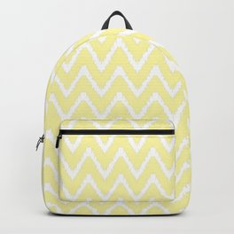Cream Southern Cottage Ikat Chevrons Backpack