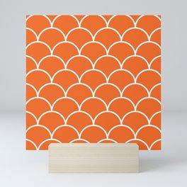 Scales - orange Mini Art Print