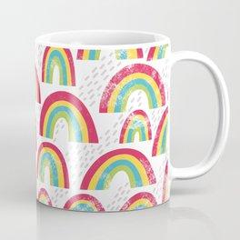 Rainbow showers - white Coffee Mug