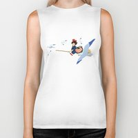kiki Biker Tanks featuring Kiki by 8-bit Ghibli
