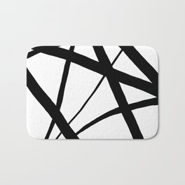 A Harmony of Lines and Shapes Bath Mat