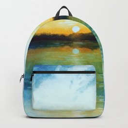 Sunrise by the sea Backpack
