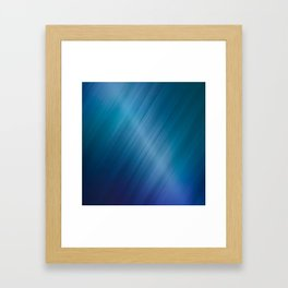 Jelly Bean & Blue Shades Metallic Pattern Framed Art Print