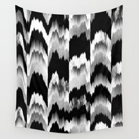 glitch Wall Tapestries featuring Glitch 2 by Elisabeth Fredriksson