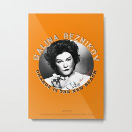 Galina Reznikov (Red) - OITNB Character Metal Print