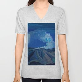 Franklin Carmichael - The Nickel Belt - Canada, Canadian Watercolor Painting - Group of Seven Unisex V-Neck