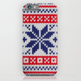 Winter knitted pattern 7 iPhone Case
