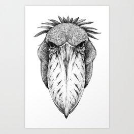 Shoebill Whale-headed stork Art Print