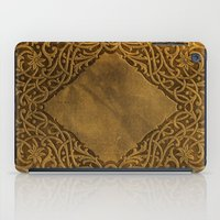 book cover iPad Cases featuring Vintage Ornamental Book Cover by Nicolas Raymond