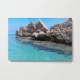 Cala Luna sea, Sardinia Metal Print