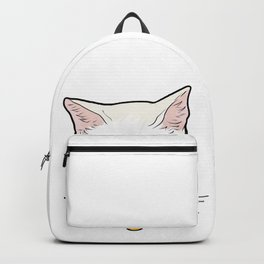 Khao Manee white Cat Face Love cool funny cute Backpack
