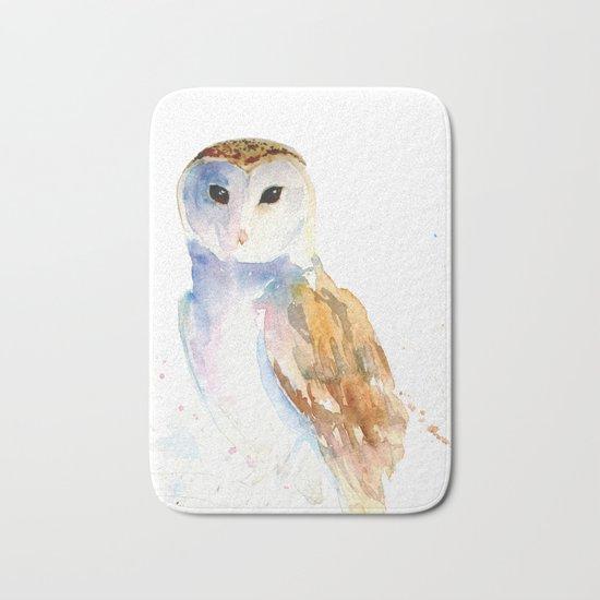 Evening Barn Owl Bath Mat