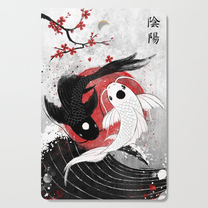 Koi fish - Yin Yang Cutting Board
