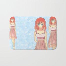 Anime Japanese Art Style Fashion Illustration Bath Mat