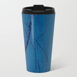 Navy Blue - Jackson Pollock Style Art - Abstract - Expressionism - Modern Travel Mug