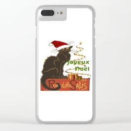 Joyeux Noel Le Chat Noir Christmas Parody Clear iPhone Case
