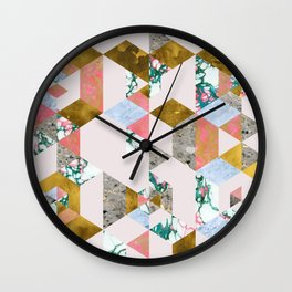 Geometry of Love #society6 #decor #buyart Wall Clock