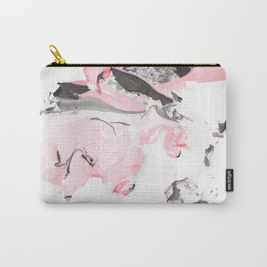 Pink and grey marble Carry-All Pouch
