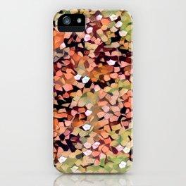 Micro Confetti Peach Lime iPhone Case