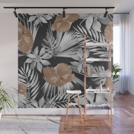 Tropical Black Out Wall Mural