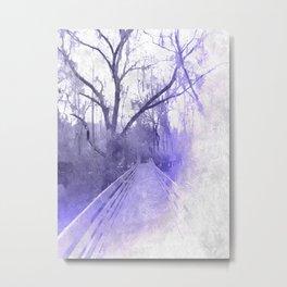 Icy Cypresses Metal Print