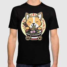 Kawaii Ramen Cute Anime Dog Corgi Japanese Noodles T-shirt