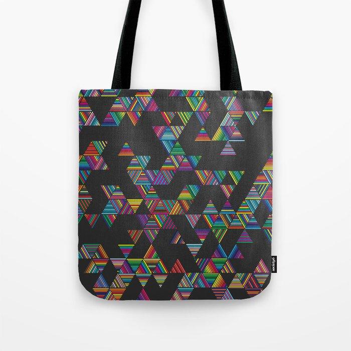 Rainbow Night Rain Tote Bag