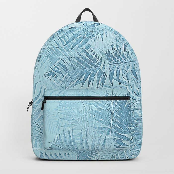 Abstract Tropical leaves Backpack
