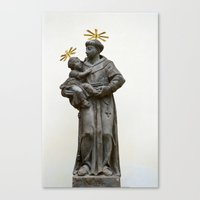 religious Canvas Prints featuring Religious sculpture by Anna Myshkin