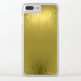 Golden Starburst Pattern Clear iPhone Case