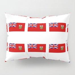 Flag of manitoba -Manitoban,rupert,Winnipeg,Brandon,Steinbach,portage,canada. Pillow Sham
