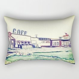 Dog River and Corner Gas Rectangular Pillow