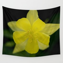 Golden Spur Columbine in Bloom Wall Tapestry