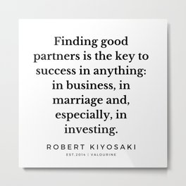 40  |  Robert Kiyosaki Quotes | 190824 Metal Print