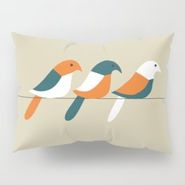 Birds on wire Pillow Sham