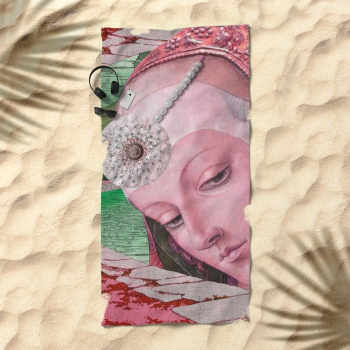 NOTHING'S ROSY Beach Towel