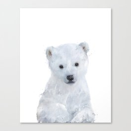 Little Polar Bear Canvas Print