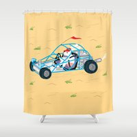 dune Shower Curtains featuring Dune Bunny by Oliver Lake